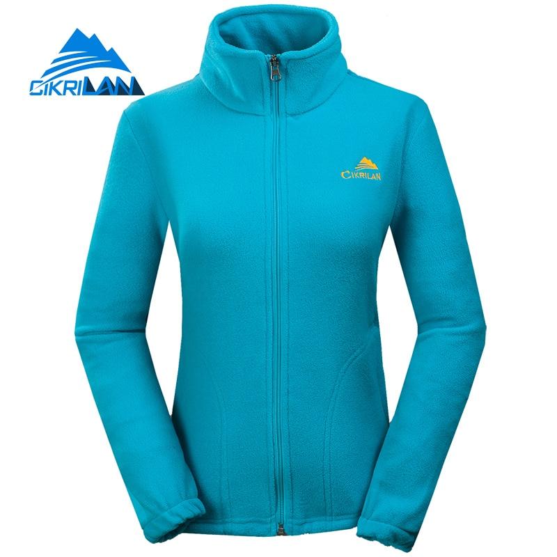 Cikrilan Лидер продаж Прогулочные дышащие Пеший Туризм Термальность флисовая куртка Для женщин Открытый спорт отдых пальто восхождение Chaquetas Mujer