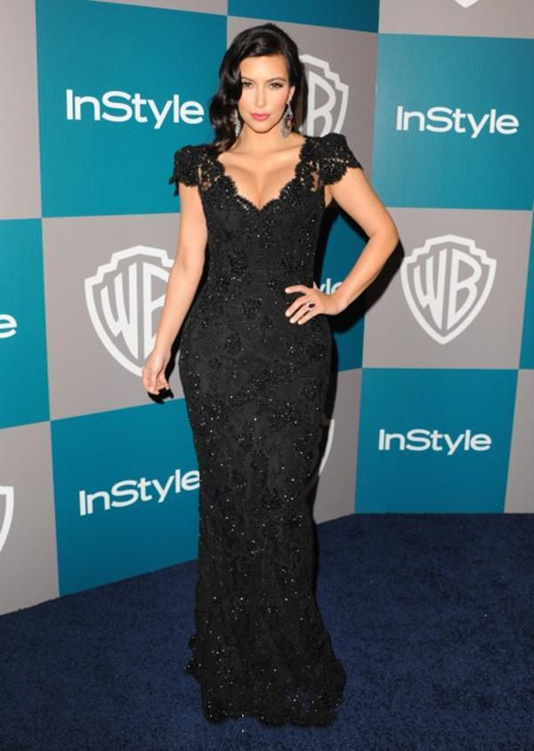 57th Grammy Kim Kardashian Shiny Gold Sequins Celebrity ...  |Kim Kardashian Red Carpet Dresses