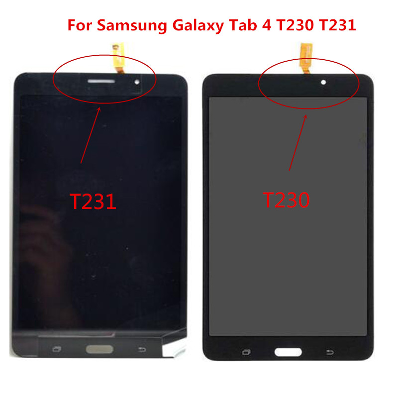Black/white Original T230 T231 LCD Touch Panel For Samsung Galaxy Tab 4 7.0 T230 T231 LCD Display Touch Screen Digitizer Panel