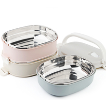 Stainless Steel 3 Layer Insulated Lunch Box Food Container Heat Preservation Sealing Barrel For Office School Storage Meal cp 33 heat preservation stainless steel electric heating lunch box w egg tray spoon white