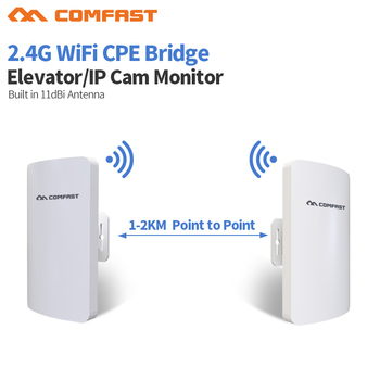 300Mbps Long Range Outdoor CPE 2.4GHz Wireless Bridge High Power Wifi Router Repeater Wireless Access Point for Wireless Camera