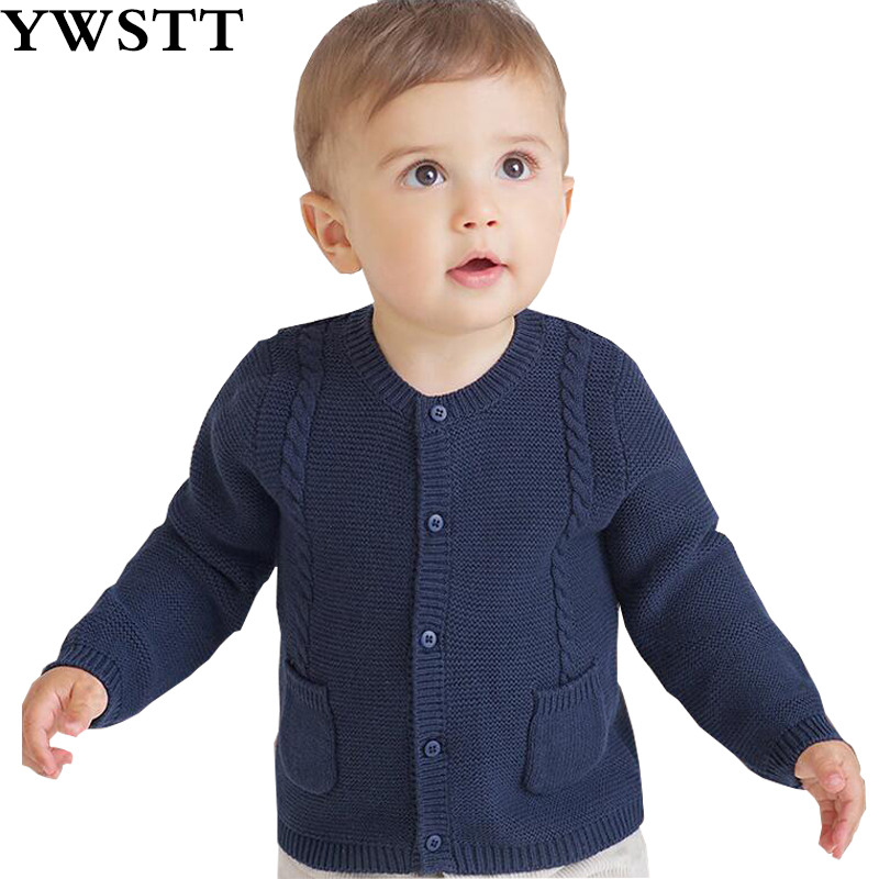 children's autumn sweater 2018 new kids cardigan Casual Warm Cotton baby knit sweter bebe horn button cable knit cardigan