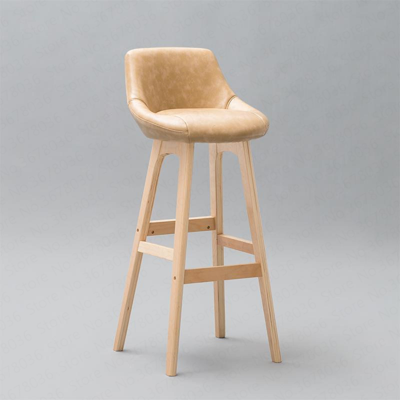 Bar Chair Solid Wood Home Back Bar Chair Rotating Bar Stool Fashion Modern Minimalist New European Creative High Stool