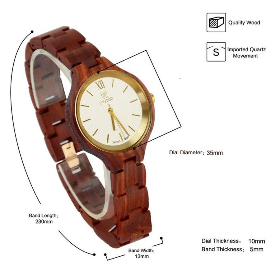 Новейшие женские часы люксовый бренд 2018 женские деревянные часы для женщин женские кварцевые часы женские наручные часы relogio feminino - 2