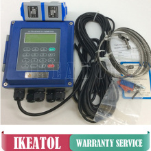 TUF-2000B with Transducer TL-1  (DN300-6000mm) PT-100 (CT-1) heat sensor digital liquid ultrasonic flowmeters flow meter