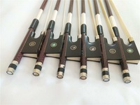 6 PCs Quality Carbon Fiber Violin Bow 4/4 Red Grids Inlay EBONY Frog Double Eye