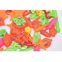54pcs Set Plastic Magnetic Fishing Toys Game Kids 2 Poles 2 Nets 50 Magnet Fish Indoor Outdoor Fun Baby Parent-child toys