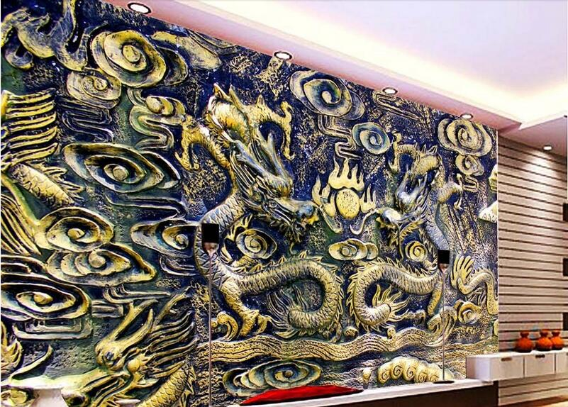 Popular dragon wall murals buy cheap dragon wall murals for Chinese movie mural
