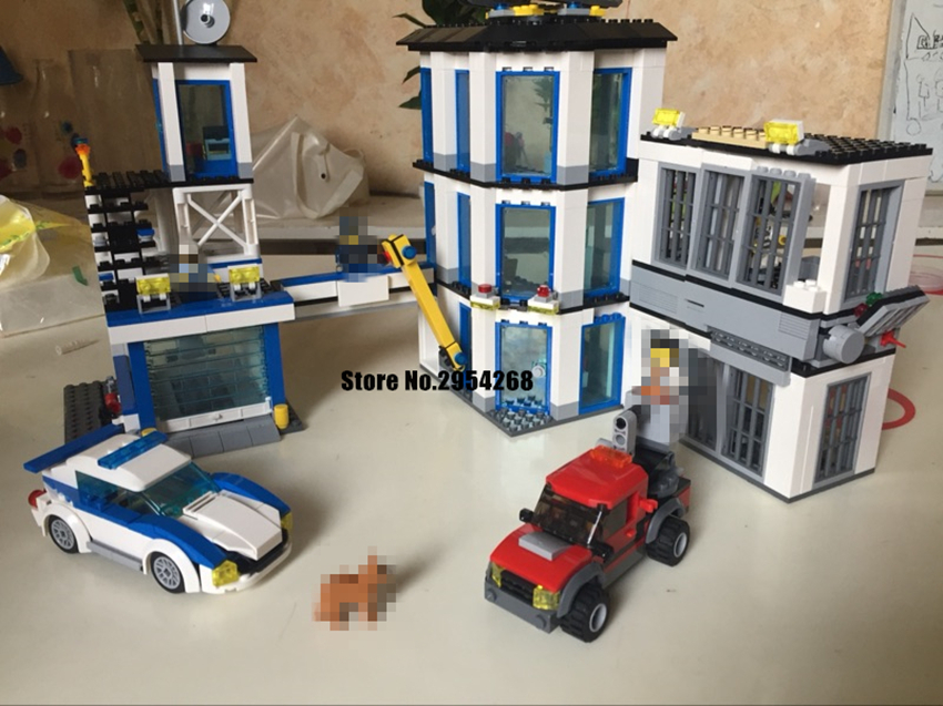 NEW City Police Station Set children Educational model Building Blocks Bricks 60141 compatible legoes gift kid diy city Toys kid 965pcs city police station model building blocks 02020 assemble bricks children toys movie construction set compatible with lego