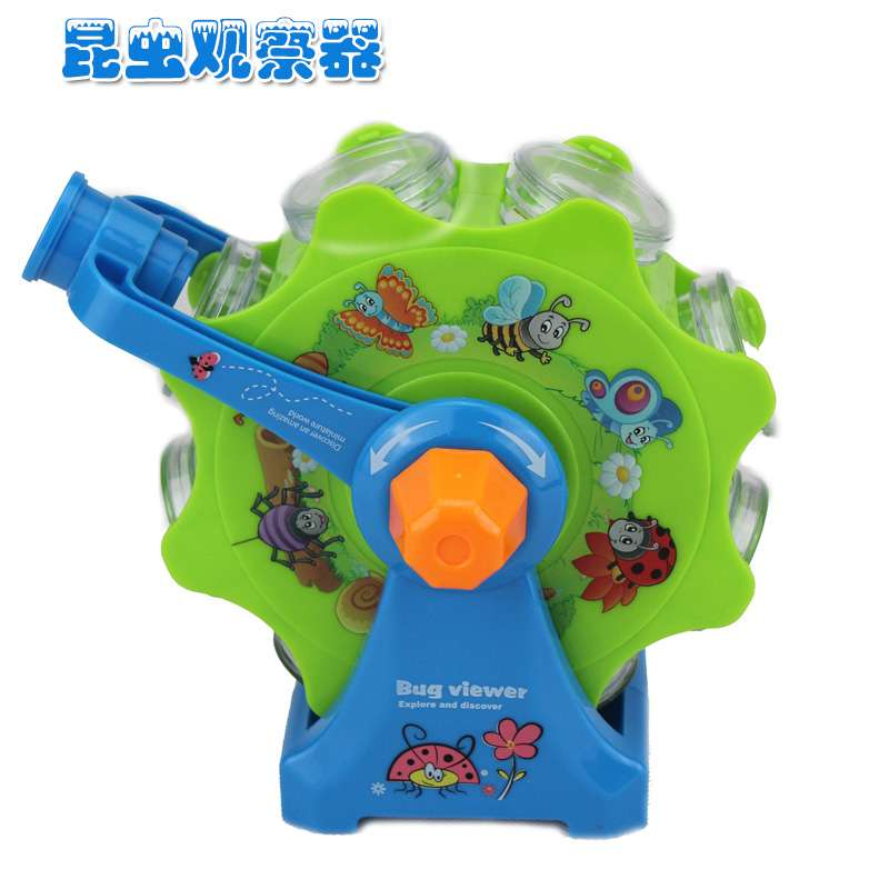 Rotating insect box viewer magnifying lens children font b science b font exploration toy biological kindergarten