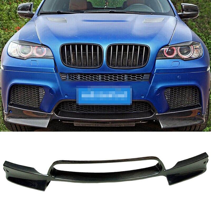 Un aileron de lèvre de pare-chocs avant de fibre de carbone de Style adapté pour BMW E70 E71 X5M X6M
