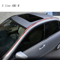 Car styling Auto Side Skirt Car Roof stainless steel Sticker Side Body Door Decoration Trim for Mercedes Benz C Class W204 08 14