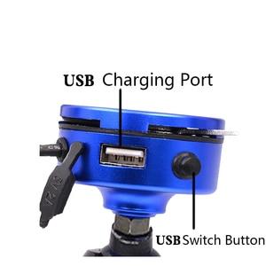 Image 2 - 2in1 USB di Ricarica Universale Del Motociclo Supporto Del Telefono 360 Moto Universale Rotante di Montaggio Mobile Specchio Retrovisore Basamento Del Telefono