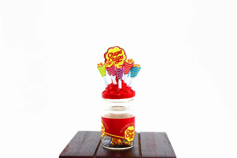 1:12 dollhouse miniature Mini Lollipop candy food toy match for forest animal family collectible Gift 2018