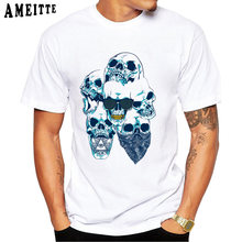 ac57d0171f22 Skull Gangsta Rap - Golden Grill Bandana Print T-Shirt Summer Fashion Men T  Shirt New Tops Funny Casual Tees Man Short Sleeve