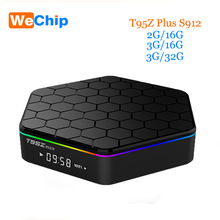 Promition Wechip T95Z Плюс TV Box Android 6.0 Octa-core cortex-A53 S912 2 Г 16 Г коди 17.0 2.4 Г и 5 Г Wi-Fi Bluetooth set top box