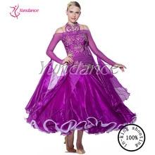 Purple Girls Ballroom Dance Dress China Manufacturer B-10336