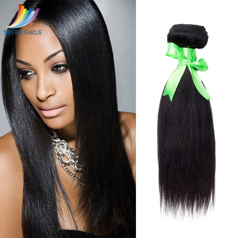 Sevengirls Straight Human <font><b>Hair</b></font> Bundles <font><b>Grade</b></font> <font><b>10A</b></font> Indian <font><b>Hair</b></font> Extension 10-30inch Natural Color Virgin <font><b>Hair</b></font> Bundle Free Shipping image