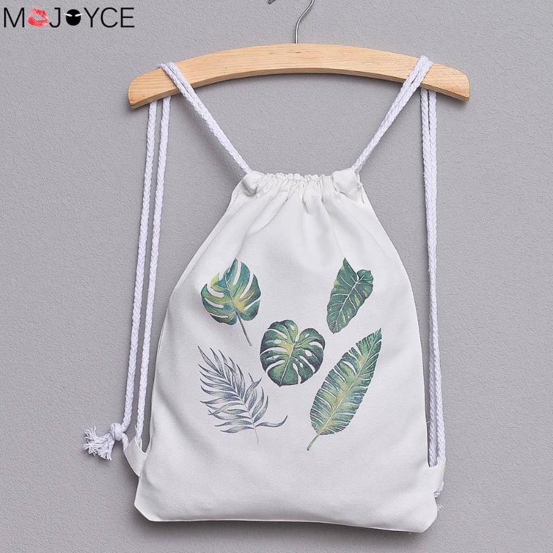 3D Printing Canvas Backpacks Drawstring Shoulder Shopping Bags Travel Softback Mochila School Girls Backpacks