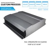 YGS 032 246x64 250 Mm Wxhxd Fashion Electronic Box Aluminum Enclosure