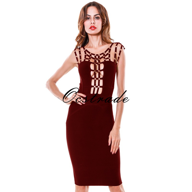 Free Shipping Women Sexy Dresses Party Night Club Dress for New Year Black Bodycon Bandage Dress Spaghetti Strap Wholesale HL цена