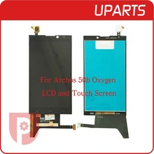1pcs/lot Original For ARCHOS 50b Oxygen LCD Display + Touch Screen Assembly LCD Digitizer Glass Panel Replacement Free Shipping