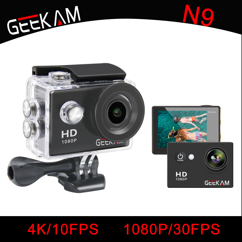 GEEKAM Vattentät WIFI N9 Sportkamera Travel Kit Action DV 1080P Full - Kamera och foto