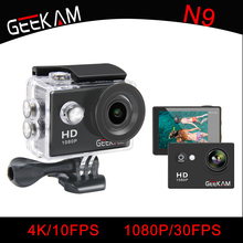 """Geekam Водонепроницаемый WI-FI N9 спортивные Камера Travel Kit Действие DV 1080 P Full HD 2 """"дюймов Экран Высокое качество cam набор для смартфонов"""