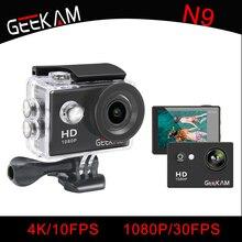 "GEEKAM Waterproof WIFI N9 Sports Camera Travel Kit Action DV 1080P Full HD 2"" inch Screen High Quality Cam Set for smartphone"