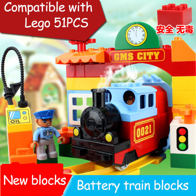 51PCS Building Blocks Construction Toys Toddlers Models Toy Educational BATTERY OPERATED