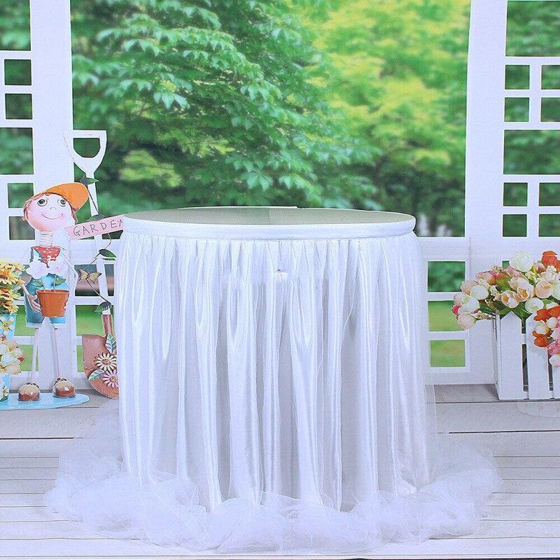 Jupe de Table Tutu en Tulle 183x78cm   Couverture de Table, jupe de Table en Tulle 6 pieds, pour décor fête prénatale noël mariage bricolage