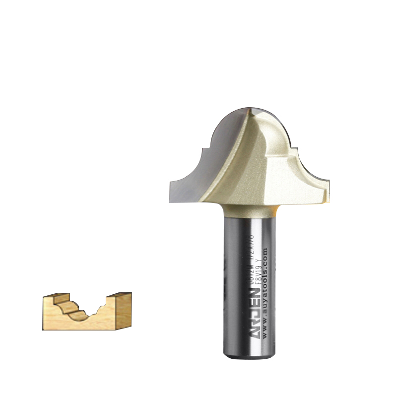 embouts routeur Woodworking Tools Double Roman Ogee Groove Table Bit Arden Router Bits - 1/4*1/2 - 1/2