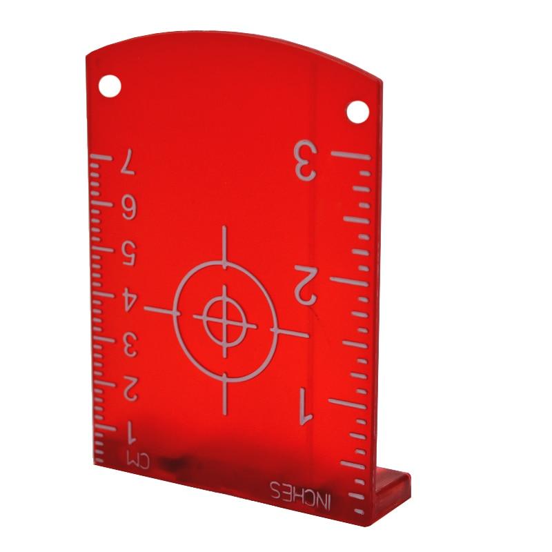 купить Zokoun red beam horizontal and vertical laser lines laser target board plate онлайн