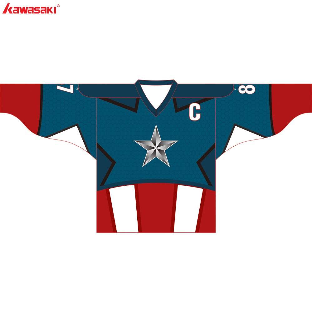 Kawasaki Marque Personnalisé hockey sur Glace Jersey Top Hommes XS-3XL Plus Taille Collage Formation Pratique Hockey Chemises Maillots