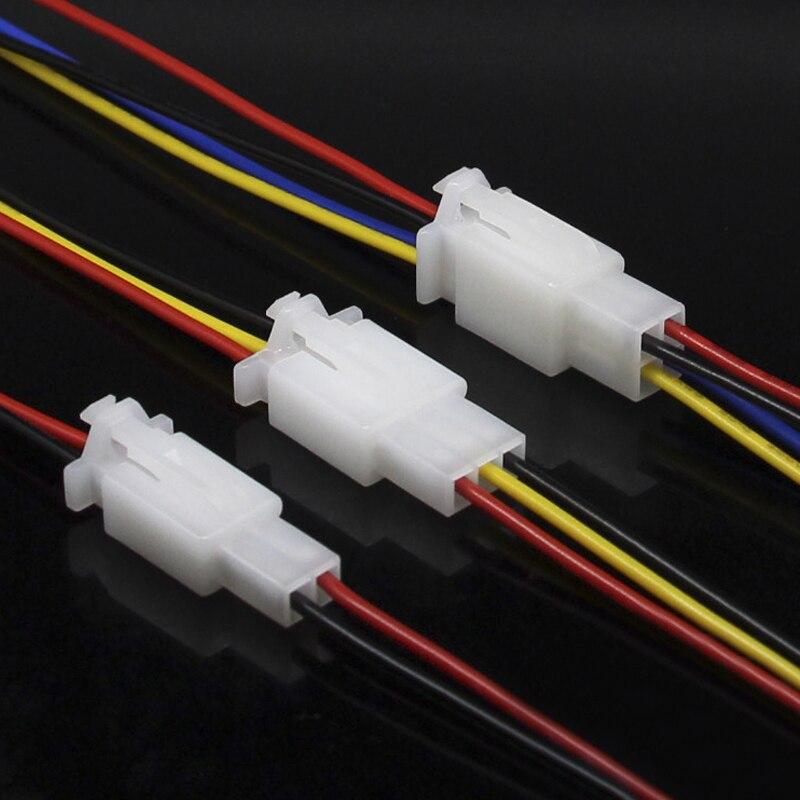 5pcs/set 2/3/4 Pin Male Female Plug Car Terminal Wire Connector ...