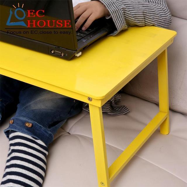 BSDT simple bamboo folding laptop comter desk in students' dormitory FREE SHIPPING