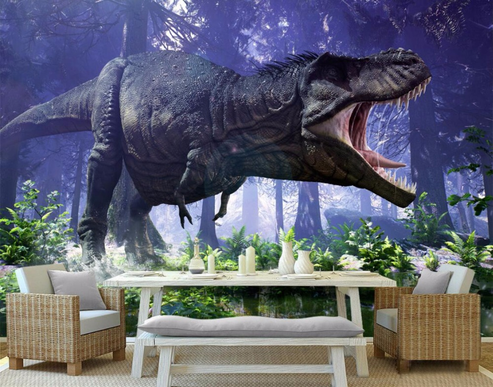 Custom mural 3d wallpaper Jurassic dinosaurs in the world home decoration painting 3d wall murals wallpaper for wall 3 d mural painting in ancient peru