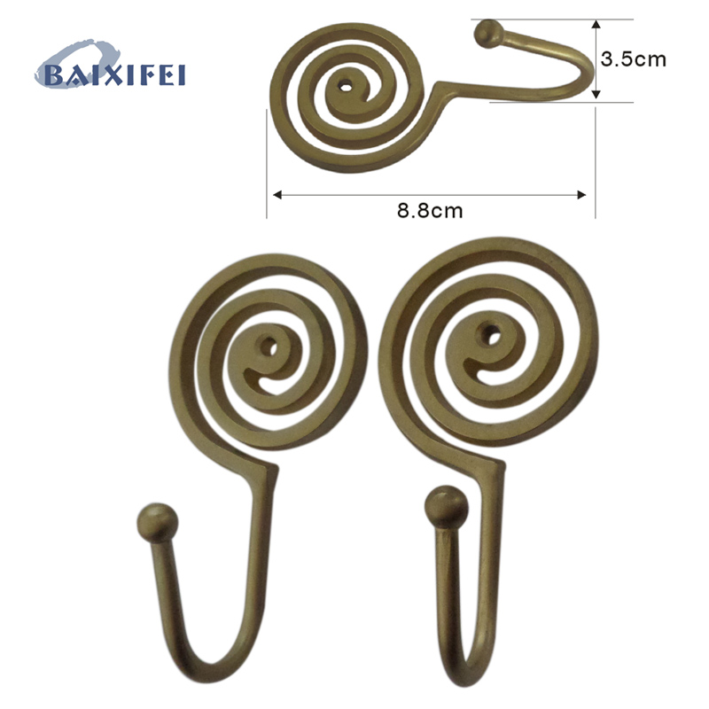 4 Pcs Spiral Shaped Tieback Hooks