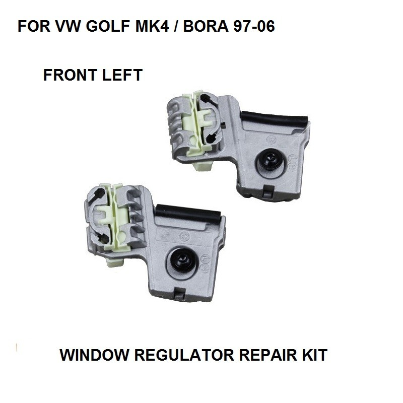 FREE SHIPPING FOR VW GOLF MK4 / BORA WINDOW REGULATOR REPAIR KIT CLIPS 1997-2006 FRONT LEFT NEW