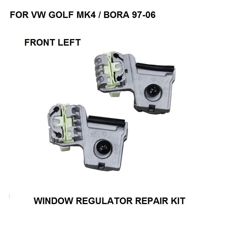 FREE SHIPPING FOR VW GOLF MK4 / BORA WINDOW REGULATOR REPAIR KIT CLIPS 1997-2006 FRONT LEFT NEW
