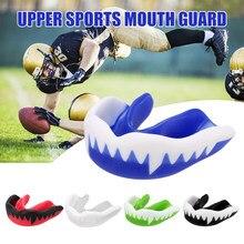 Protetor de dentes crianças juventude protetor bucal esportes boxe boca guarda cinta de dente proteção para basquete rugby boxe