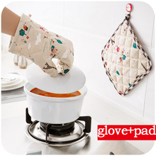 ФОТО Vanzlife cotton and linen placemat pot microwave oven Mitt  quilted Potholder gloves for protection against hot two piece