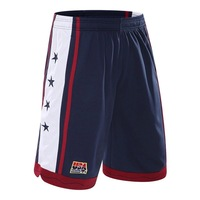 USA Basketball Shorts Men Polyester Mesh Sport Running Short Pants Homme Drawstring Gym Joggers Bermuda Surf