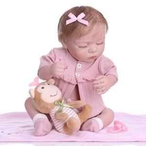 Image 4 - NPK 48 CM nouveau né bebe réaliste reborn doux corps entier silicone réaliste sommeil bébé anatomiquement Correct