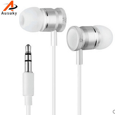 A Ausuky Professional In-Ear Earphone for Phone Microphone 3.5mm Jack Wired Headset Earbuds -25 mobaks hxt 2045 novel zipper style universal 3 5mm jack wired in ear headset w microphone blue
