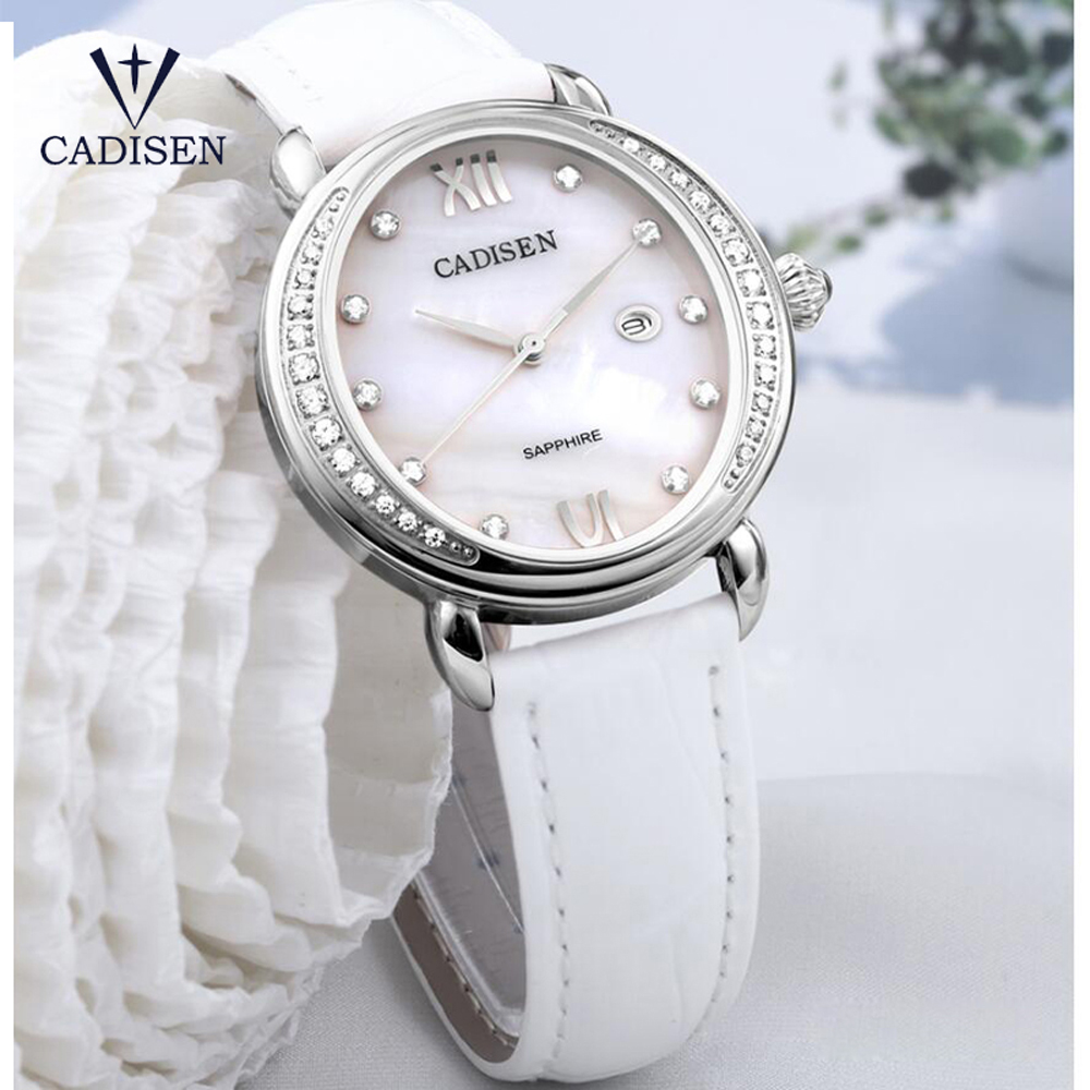 CADISEN Top Brand 2018 Luxury ladies casual Watch Gold Diamond Quartz Watches Fashion Rhinestone Clock Women Relogio Feminino new top brand guou women watches luxury rhinestone ladies quartz watch casual fashion leather strap wristwatch relogio feminino