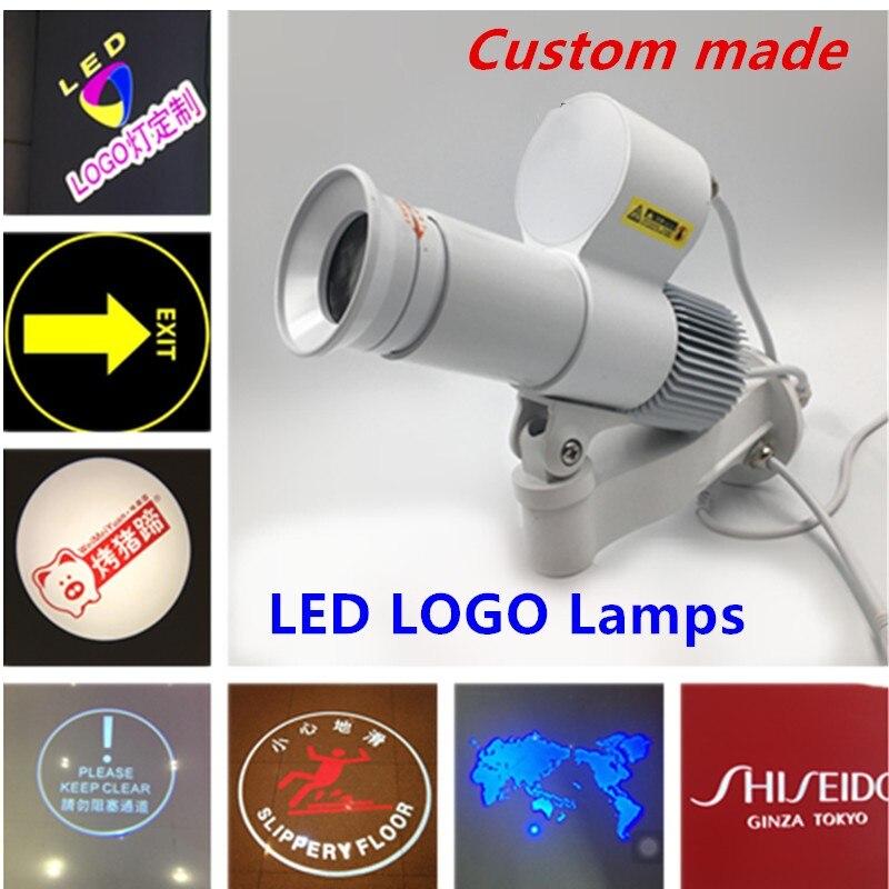 LED Logo lampes 10 W 5000 lumens publicité Dynamique projecteur Gobo Rotation Projection sur mesure publicité Piste lumière 110 V 230 V