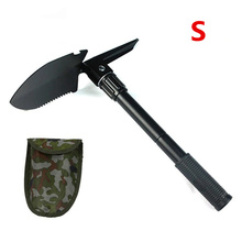 4in1 folding shovel + axe + saw + hoe. Multi-purpose camping shovel military outdoor equipment