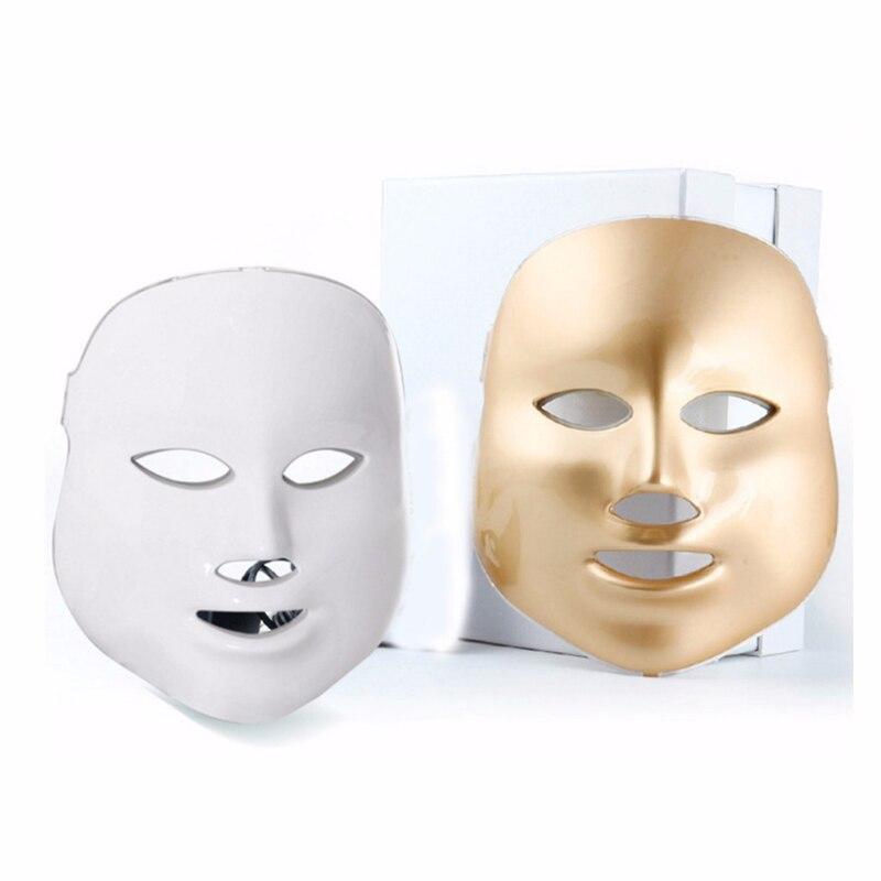 Beauté LED photon masque Facial, 7 couleurs luminothérapie soins de la peau rajeunissement rides acné enlèvement visage beauté Spa