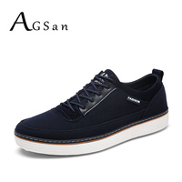AGSan 2017 Casual Shoes Men Laces Up Autumn England Style Mens Footwear Blue Black Red Male